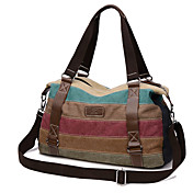 Mujer Lienzo Casual / Exterior Tote Multicolor