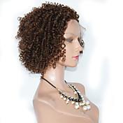 Mujer Pelucas de Cabello Natural Cabello humano Encaje Completo Encaje Frontal 120% Densidad Rizado Peluca Negro Azabache Negro Marrón