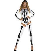 Cosplay Kostýmy Kostým na Večírek Kostra/Czaszka Festival/Svátek Halloweenské kostýmy Červená Bílá Jednobarevné TiskLeotard/Kostýmový