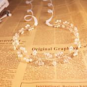 Mujeres / flor chica de cristal / imitación perla headpiece - boda / ocasión especial / al aire libre headbands barato