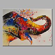 Pintada a mano Animal Horizontal,Modern Un Panel Pintura al óleo pintada a colgar For Decoración hogareña