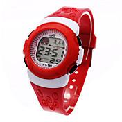 Dětské Sportovní hodinky Digitální hodinky Digitální LCD Kalendář Chronograf poplach Sportovní hodinky Plastic Kapela Černá Modrá Červená