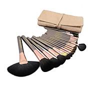 Set de Pinceles de Maquillaje de Alta Calidad Pro de 20 Piezas de Pelo Natural de Cabra (3 Colores)