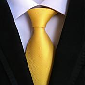 Krawatte (Gelb , Polyester) Einfarbig