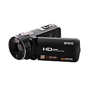 ビデオカメラ 1080P 抗衝撃 笑顔検出 タッチスクリーン ブラック