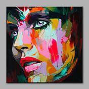 Pintada a mano Personas Modern Un Panel Pintura al óleo pintada a colgar For Decoración hogareña