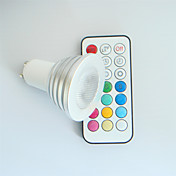 4W GU10 LEDスポットライト MR16 1 ハイパワーLED 300 lm RGB 明るさ調整 / リモコン操作 / 装飾用 AC 100-240 V 1個