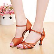 Zapatos de baile(Negro / Marrón / Morado / Rojo / Otro) -Latino / Salsa-Personalizables-Tacón Personalizado