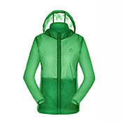 Mujer Chaqueta para senderismo Impermeable Secado rápido Resistente a los UV Transpirable Cremallera visible largo total Chaqueta