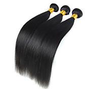 高品質のbundles 50グラム/個ペルーの処女の髪の織り自然な黒ストレート人間の髪の織り.