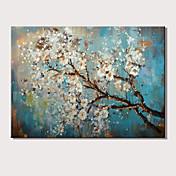 Ručně malované Abstraktní Květinový/Botanický motiv Horizontální,Moderní Jeden panel Plátno Hang-malované olejomalba For Home dekorace