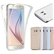 Para Samsung Galaxy S7 Edge Transparente Funda Cuerpo Entero Funda Un Color TPU Samsung S7 edge / S7 / S6 edge / S6