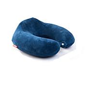 1枚 旅行用ピロー ネックサポート Uシェイプ 携帯式 快適 のために 旅行用睡眠グッズブルー グレー