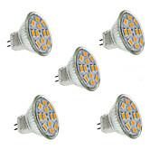 5W GU4(MR11) LED bodovky MR11 12 SMD 5730 560 lm Teplá bílá / Chladná bílá Ozdobné DC 12 V 5 ks