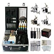 kit de la máquina del tatuaje basekey 4 s jhk0104 con agarres de alimentación de tinta cepillo de limpieza de agujas