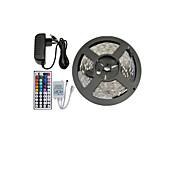 5メートル150x5050 SMD RGB LEDストリップライトと44keyリモコンおよび3a EUの電源(ac110-240v)