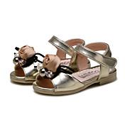 Para Niña-Tacón Plano-Confort Zapatos de niña de las flores-Sandalias-Boda Exterior Vestido Informal Fiesta y Noche-Semicuero-Rosa Oro