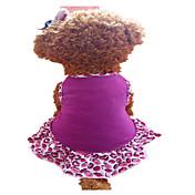 犬用品 ドレス パープル 犬用ウェア 夏 唇 ファッション