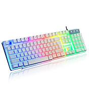 虹機械タッチ有線USB防水ノートパソコンのデスクトップのプロは、コンピュータのキーボードを照らさ