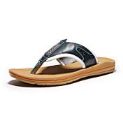 Hombre Zapatos Cuero Verano Confort Para Casual Azul