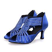 Zapatos de baile(Negro / Azul / Rojo) -Latino / Jazz / Moderno / Zapatos de Swing-Personalizables-Tacón Carrete