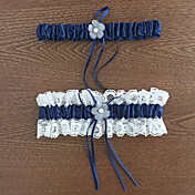 Liga Poliéster Flor Renda Azul