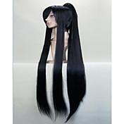 nádherný super dlouhé rovné cosplay paruka s copem umělých vlasů paruky přirozené společenské paruky animované 3 barvy
