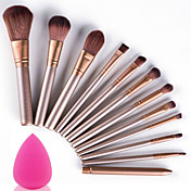 12stk makeup børster sæt med puff svamp profession soft cosmetic kit makeup artist