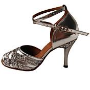 Zapatos de baile(Azul / Morado / Plata) -Latino-No Personalizables-Tacón Stiletto