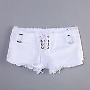 女性 ショーツ / ジーンズ パンツ セクシー ゼブラプリント ローライズ 伸縮性 夏
