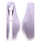 80センチメートル耐熱原宿アニメのコスプレウィッグアニメのための若い長い直線人工毛かつら/ウィッグ