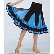 Standardní tance Spodní část oděvu Dámské Výkon elastan Nášivky / Nařasený Jeden díl Bez rukávů Spuštený Sukně 64CM