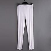 De las mujeres Pantalones Ajustado Elástico-Algodón