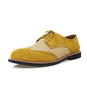 Hombre Zapatos Ante Primavera Otoño Oxfords Zuecos y pantuflas Paseo Para Boda Casual Gris Amarillo Marrón