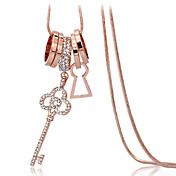 Mujer Collares con colgantes Legierung Brillante Plateado Chapado en Oro Rosa Oro Plateado La imitación de diamanteModa Cajas y Bolsas de