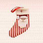1pc decoración del árbol de navidad de la raya calcetín de Papá Noel colgante fuentes del partido del festival casa