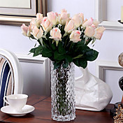 10 10 Větev PU Růže Květina na stůl Umělé květiny 55CM