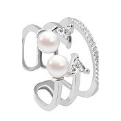 指輪 ファッション 結婚式 / パーティー / 日常 / カジュアル ジュエリー 合金 女性 バンドリング 1個,調整可 シルバー