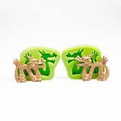 ケーキの装飾金型中国のドラゴンセットチョコレートポリマーのためのシリコーン金型粘土のサトウキビツールカラーランダム