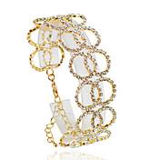 Náramky Řetězové & Ploché Náramky Slitina Circle Shape Módní Svatební / Párty / Denní / Ležérní Šperky Dárek Zlatá / Stříbrná,1ks