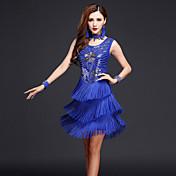 Budeme latin taneční šaty ženy výkon šaty náhrdelníky náhrdelníky