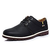 Hombre Zapatos PU Primavera Otoño Oxfords Para Casual Negro Marrón Caqui