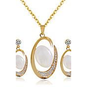 Jewelry Ogrlice / Füllbevalók Svadbeni nakit Setovi Vjenčanje / Party 1set Žene Zlatna Vjenčanje Pokloni