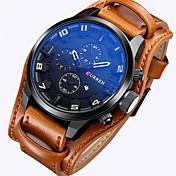 CURREN Hombre Reloj Deportivo Reloj Militar Reloj de Vestir Reloj de Moda Reloj de Pulsera Cuarzo Cuarzo Japonés Calendario Piel Banda