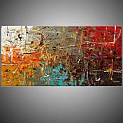 手描きの 抽象画 横長,欧風 1枚 キャンバス ハング塗装油絵 For ホームデコレーション