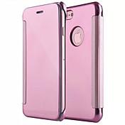 Para iPhone X iPhone 8 Carcasa Funda Espejo Flip Cuerpo Entero Funda Color sólido Dura Policarbonato para Apple iPhone X iPhone 8 Plus