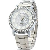 ユニセックス ドレスウォッチ ファッションウォッチ ダミー ダイアモンド 腕時計 / 模造ダイヤモンド クォーツ ステンレス バンド ビンテージ カジュアルスーツ シルバー