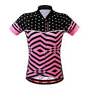 WOSAWE サイクリングジャージー 女性用 半袖 バイク トレーナー ジャージー 高通気性 後ポケット モイスチャーコントロール ポリエステル クラシック 夏 サイクリング/バイク