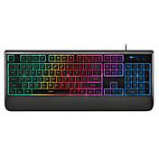 rapoo Gaming-Tastatur mechanische Berührung v56 ergonomische Multimedia wasserdicht hintergrundbeleuchtete Tastatur usb Kabel 104keys