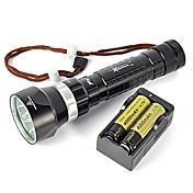 200メートル8000lm 4xxm-L2水中はバッテリ・チャージャのスキューバダイビング懐中電灯トーチフルセットを主導しました